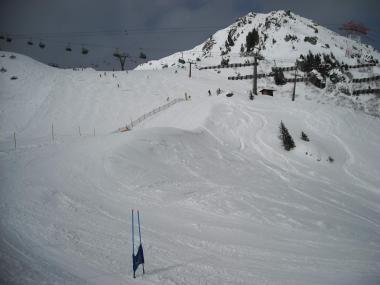 Pohled na sjezdovky ve Ski Amadé