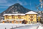 Rakouský hotel Plankenau Wirt v zimě