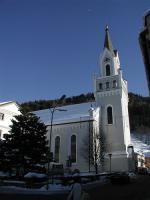Rakouský Rohrmoos s kostelem